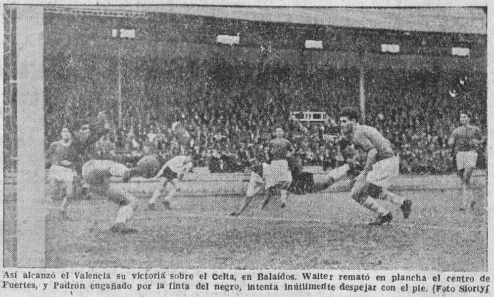 30.11.1958: Celta de Vigo 1 - 2 Valencia CF