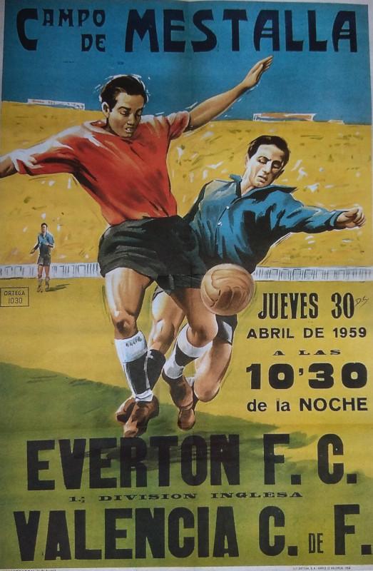 30.04.1959: Valencia CF 1 - 0 Everton FC