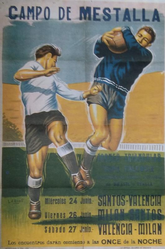 24.06.1959: Valencia CF 4 - 4 Santos FC