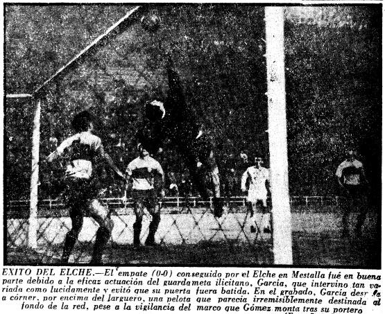01.01.1961: Valencia CF 0 - 0 Elche CF