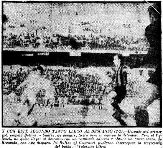 21.03.1962: Inter Milán 3 - 3 Valencia CF