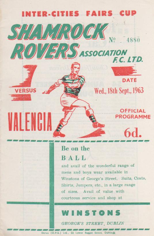 18.09.1963: Shamrock Rov. 0 - 1 Valencia CF