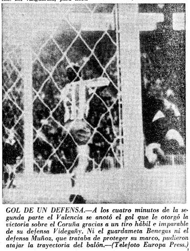 27.12.1964: Valencia CF 1 - 0 Dep. Coruña