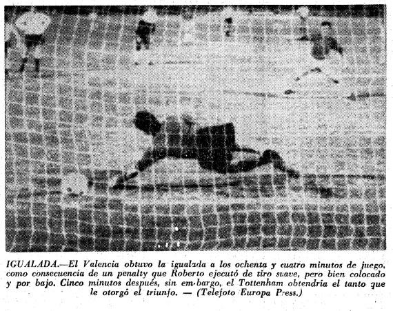 14.08.1965: Tottenham 2 - 1 Valencia CF