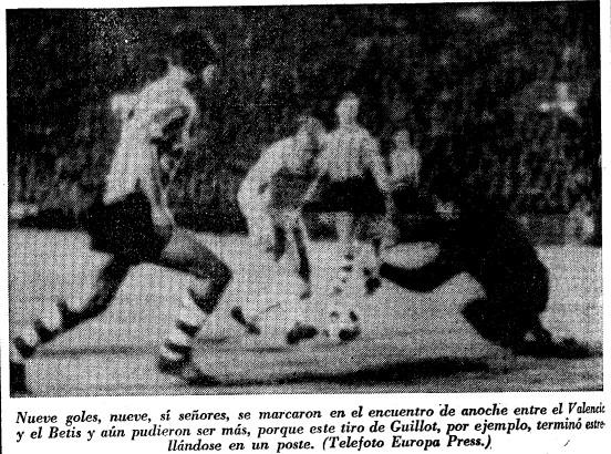 01.12.1965: Valencia CF 6 - 3 Real Betis