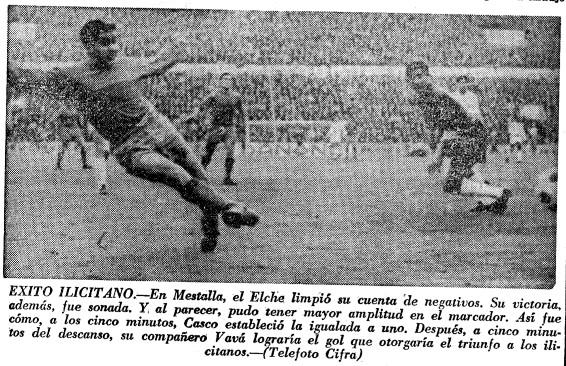 26.12.1965: Valencia CF 1 - 2 Elche CF
