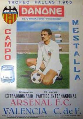 16.03.1966: Valencia CF 0 - 0 Arsenal FC