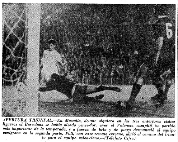 01.01.1967: Valencia CF 3 - 0 FC Barcelona