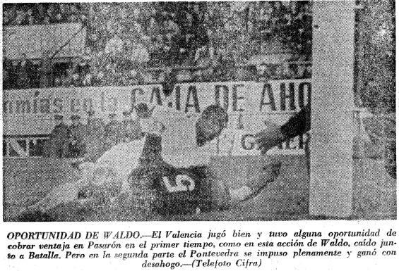 26.02.1967: Pontevedra CF 3 - 0 Valencia CF