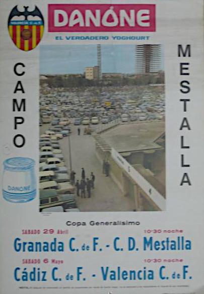 06.05.1967: Valencia CF 6 - 0 Cádiz CF