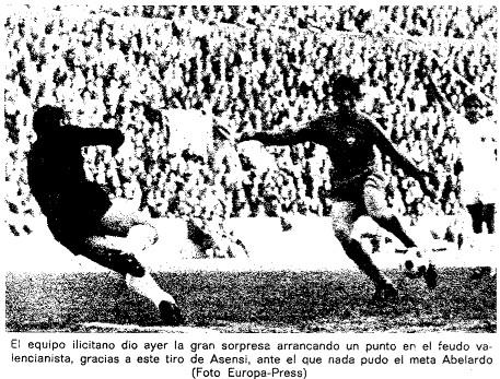 04.02.1968: Valencia CF 1 - 1 Elche CF