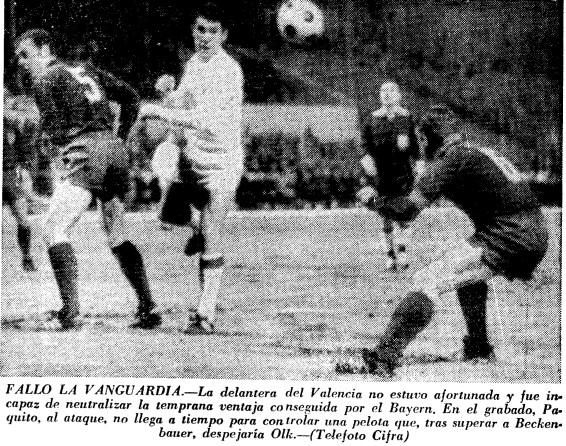 13.03.1968: Bayern Munich 1 - 0 Valencia CF