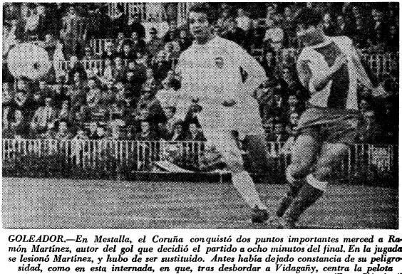 29.03.1970: Valencia CF 0 - 1 Dep. Coruña