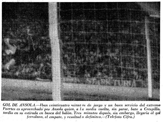 03.06.1970: Valencia CF 1 - 1 Racing Ferrol