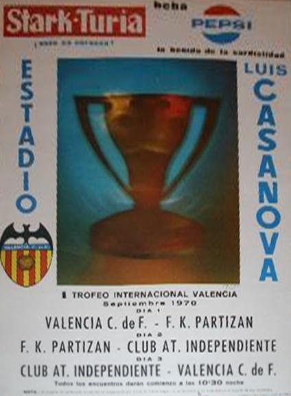 01.09.1970: Valencia CF 3 - 1 Partizán Belg.