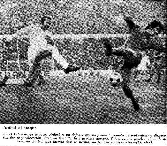 03.01.1971: Valencia CF 1 - 0 Real Madrid