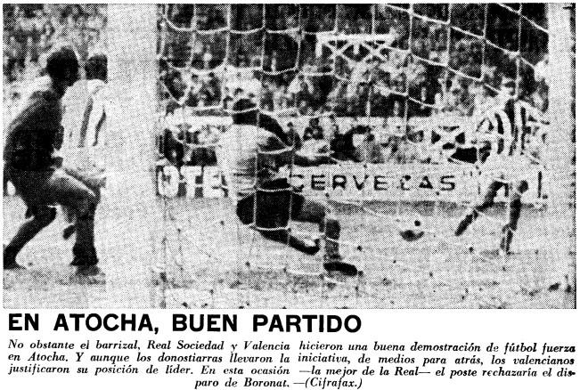 31.01.1971: Real Sociedad 0 - 0 Valencia CF