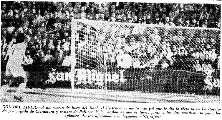 14.02.1971: Málaga CF 0 - 1 Valencia CF