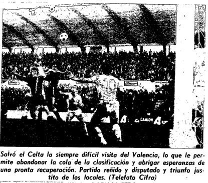 10.12.1972: Celta de Vigo 1 - 0 Valencia CF