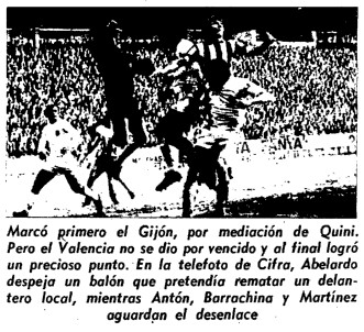 31.12.1972: Sporting Gijón 1 - 1 Valencia CF