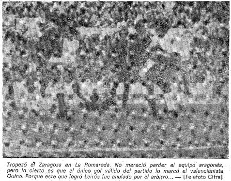 11.02.1973: Real Zaragoza 0 - 1 Valencia CF
