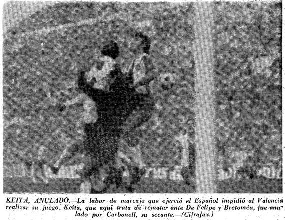 28.10.1973: Valencia CF 1 - 0 RCD Espanyol