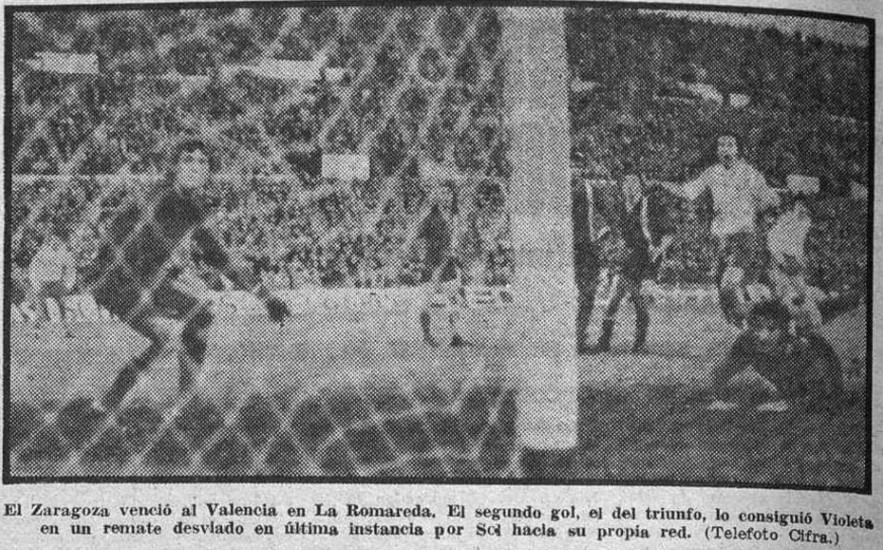 23.12.1973: Real Zaragoza 2 - 1 Valencia CF