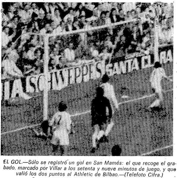 21.04.1974: Athletic Club 1 - 0 Valencia CF