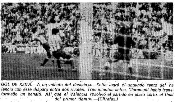 20.10.1974: Valencia CF 2 - 0 Málaga CF