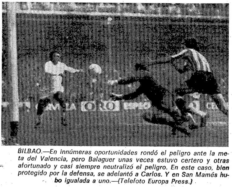 16.02.1975: Athletic Club 1 - 1 Valencia CF
