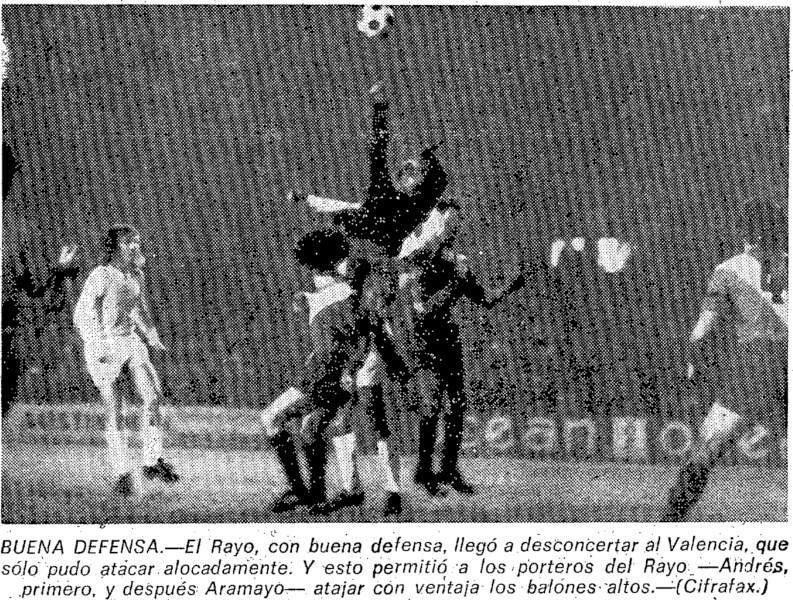 26.02.1975: Valencia CF 1 - 1 Rayo Vallecano