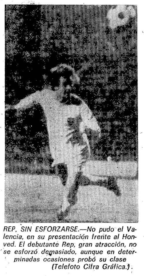 12.08.1975: Valencia CF 2 - 2 Hon. Budapest