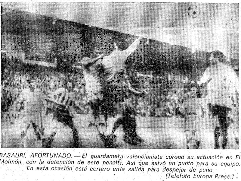 21.03.1976: Sporting Gijón 1 - 1 Valencia CF