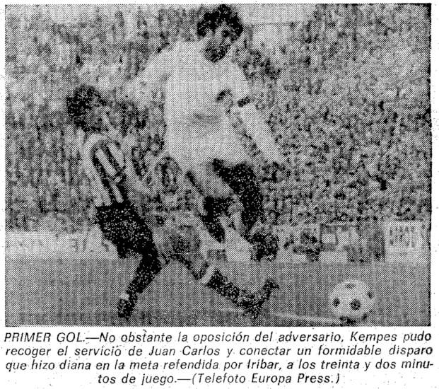 21.11.1976: Valencia CF 2 - 0 Athletic Club