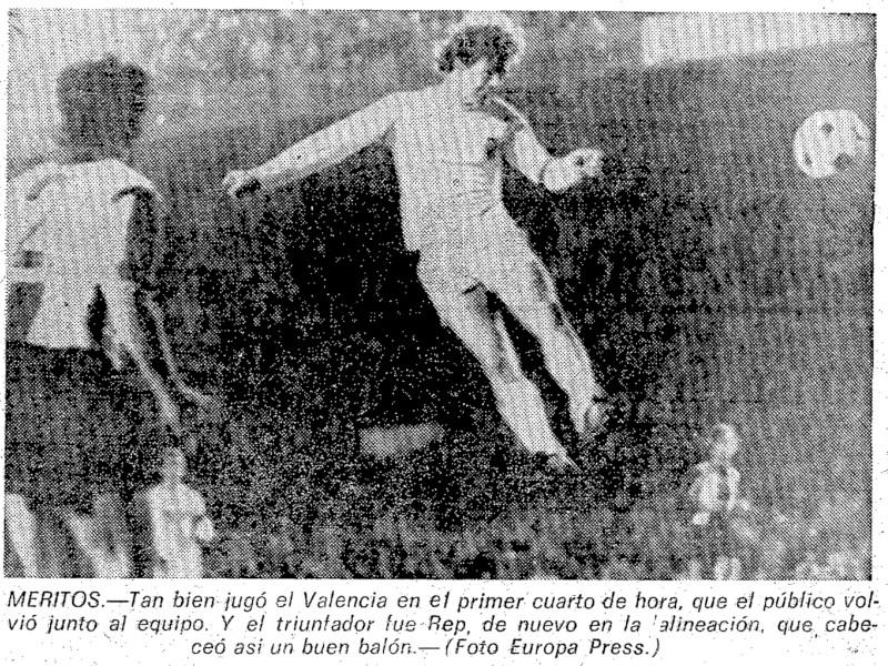 05.12.1976: Valencia CF 3 - 1 Hércules CF