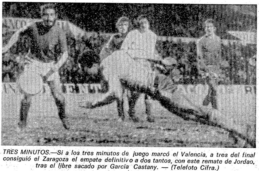 02.01.1977: Real Zaragoza 2 - 2 Valencia CF