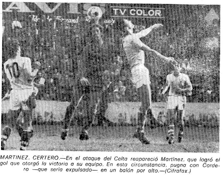 16.01.1977: Celta de Vigo 1 - 0 Valencia CF