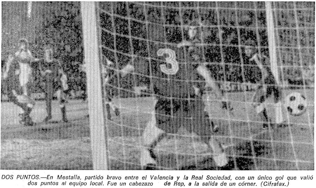 23.01.1977: Valencia CF 1 - 0 Real Sociedad