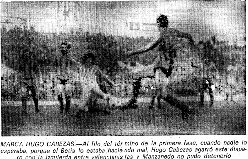 08.01.1978: Real Betis 1 - 1 Valencia CF