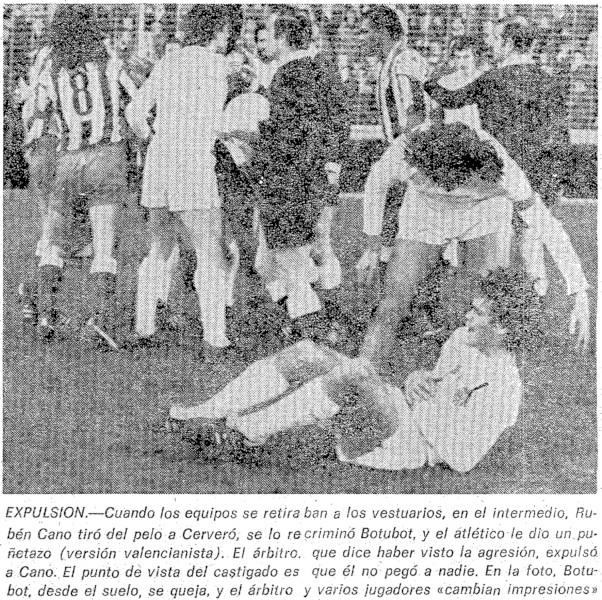22.01.1978: Valencia CF 1 - 1 At. Madrid