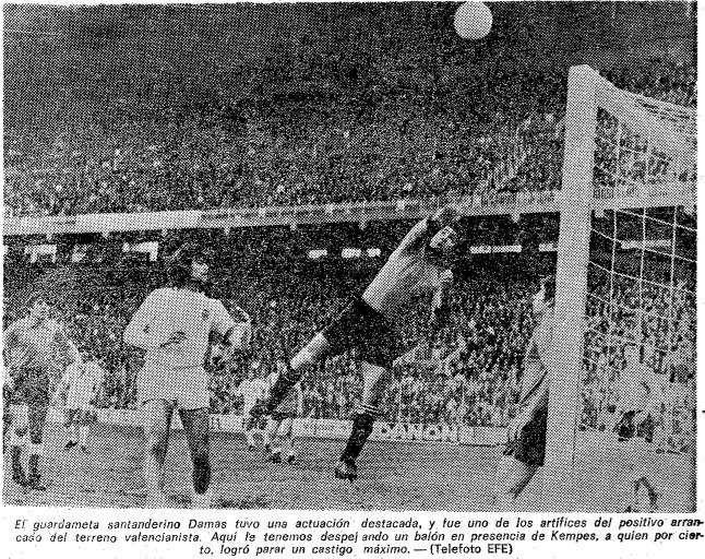 05.02.1978: Valencia CF 0 - 0 Rac. Santander