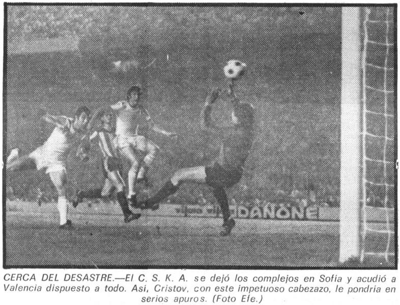 27.09.1978: Valencia CF 4 - 1 CSKA Sofia