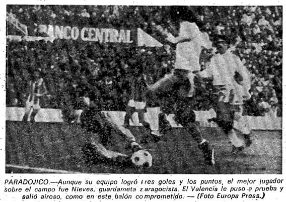 26.11.1978: Real Zaragoza 3 - 0 Valencia CF