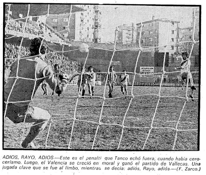 17.12.1978: Rayo Vallecano 0 - 1 Valencia CF
