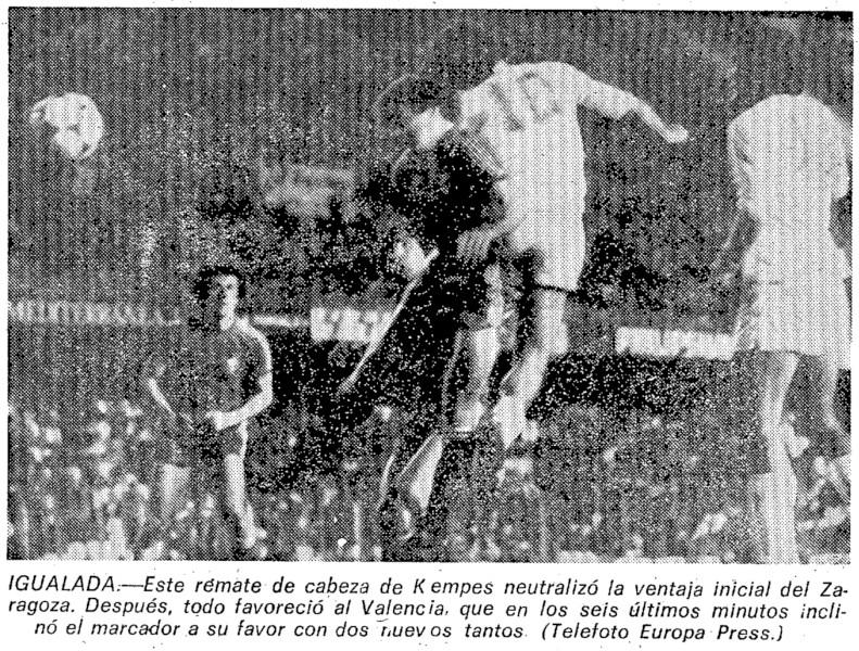 22.04.1979: Valencia CF 3 - 1 Real Zaragoza