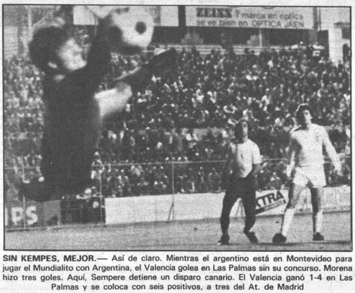 27.12.1980: UD Las Palmas 1 - 4 Valencia CF