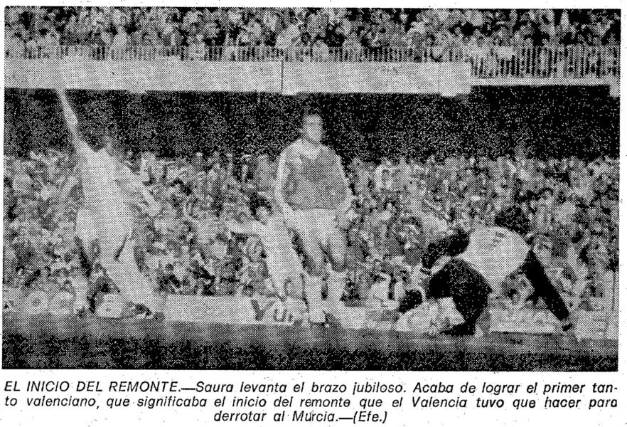22.03.1981: Valencia CF 3 - 2 Real Murcia