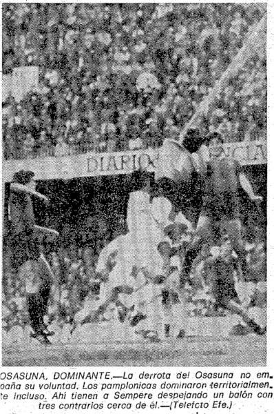 24.01.1982: Valencia CF 4 - 1 CA Osasuna