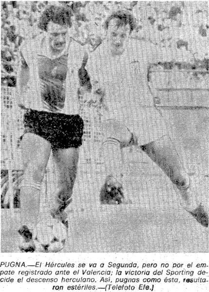 25.04.1982: Hércules CF 2 - 2 Valencia CF
