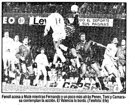 22.11.1989: Valencia CF 5 - 0 Celta de Vigo